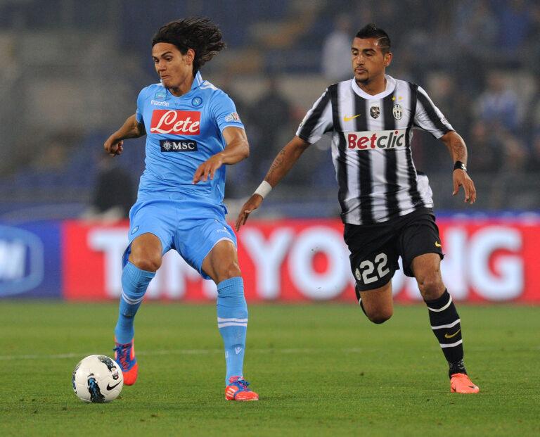 Cavani Vidal Juventus Napoli