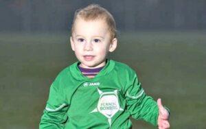 bambino di 20 mesi sotto contratto in belgio