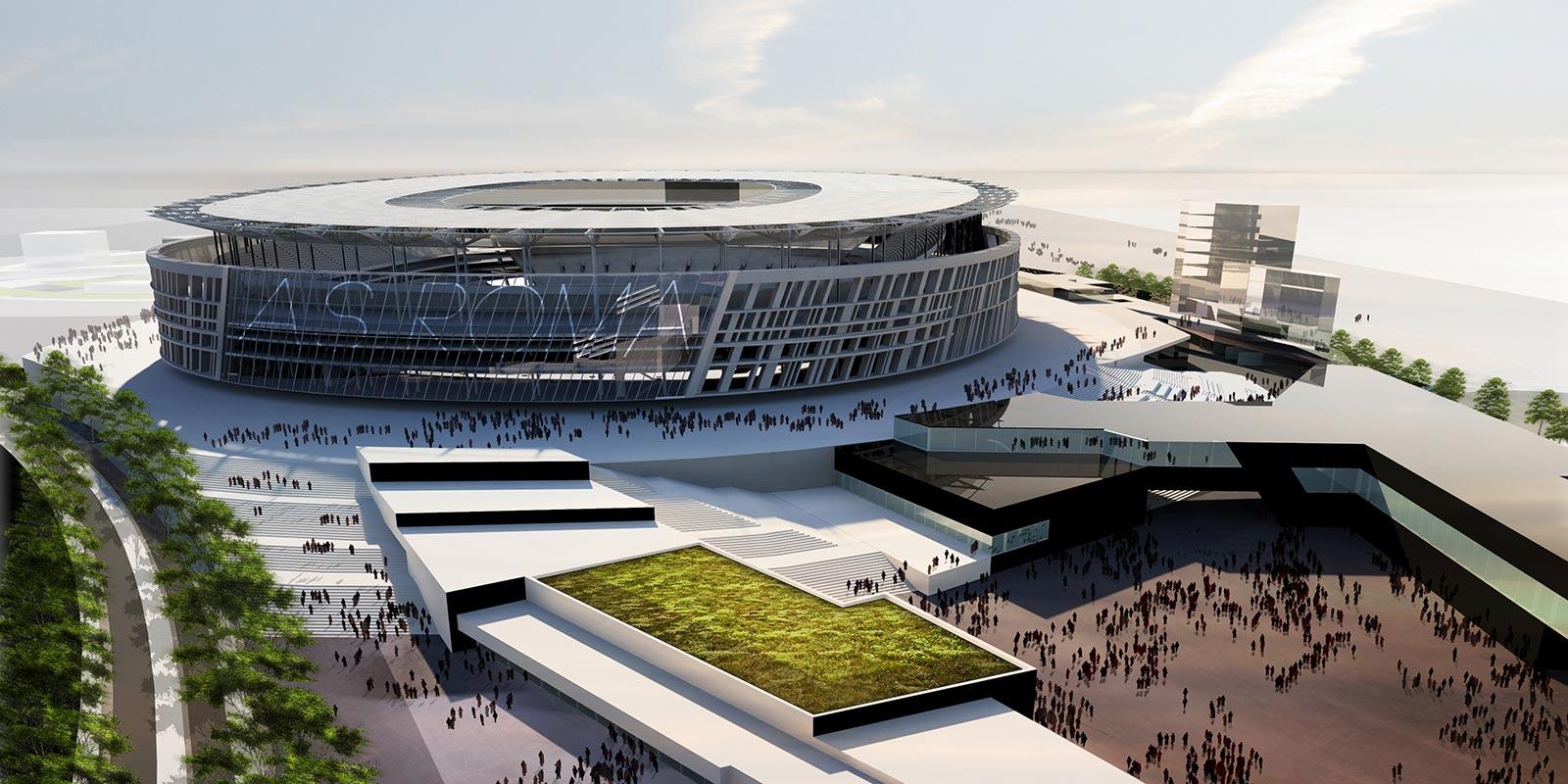 Roma tutti i segreti del nuovo stadio sar il pi bello - Progetto casa roma ...