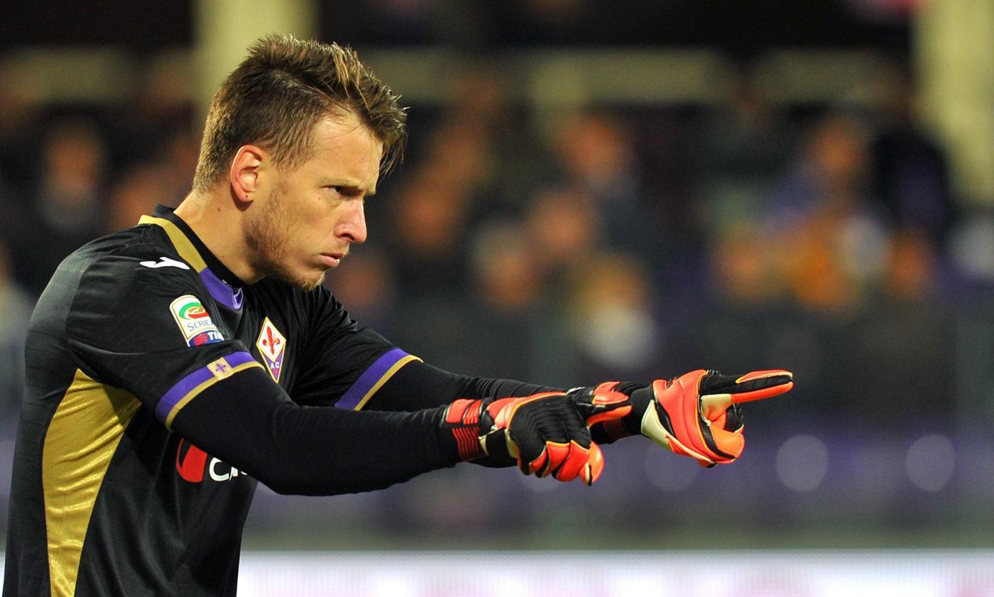 Allenamento Fiorentina portiere