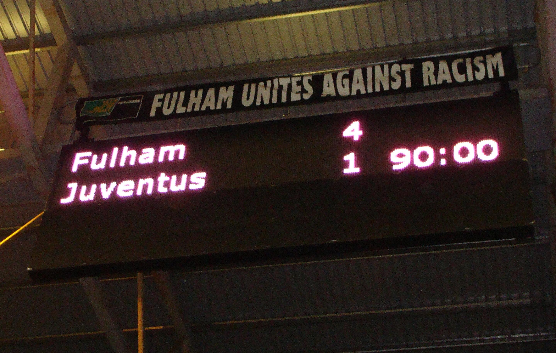 Fulham Juventus 4-1