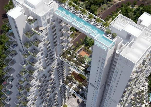 Le pi belle piscine del mondo per tuffarsi nel lusso foto - Singapore hotel piscina ...