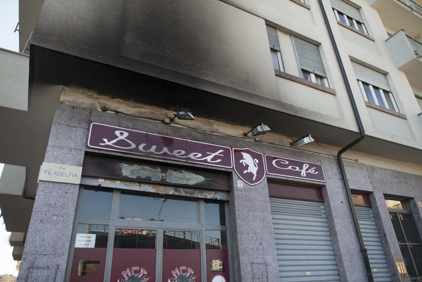 Torino juve inizio shock a fuoco un bar dei tifosi for Bar maison torino