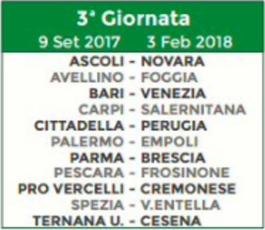 Calendario Serie B Bari.Calendario Serie B Ecco Tutte Le Giornate