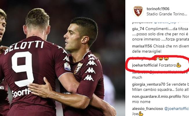Torino |  Hart cuore granata |  ecco il suo commento social dopo la vittoria sul Trapani
