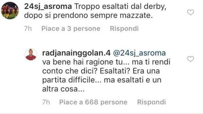 Roma, Nainggolan sbotta sui social: bufera dopo Atletico Roma [FOTO]
