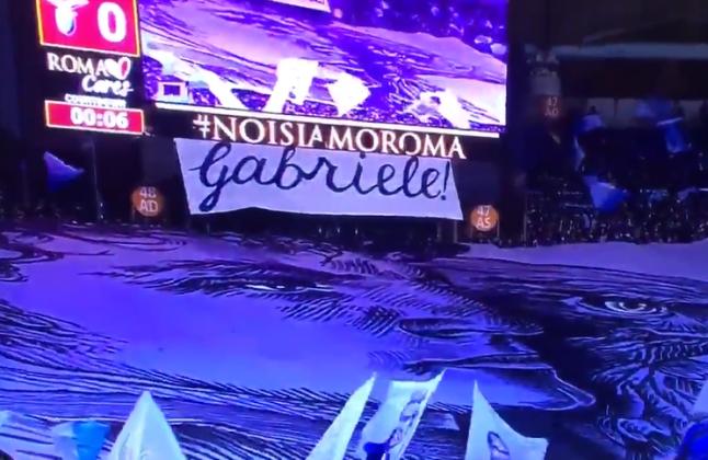 Roma Lazio, coreografia da brividi per Gabriele Sandri: emozione e lacrime [FOTO E VIDEO]