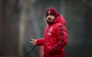 Milan    seduta di allenamento davanti a Leonardo e Maldini