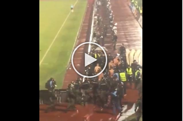 Partizan-Stella Rossa, l'invasione scatena l'inferno: polizia mette