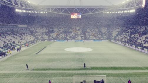 Juventus Atalanta, copiosa nevicata su Torino: la situazione