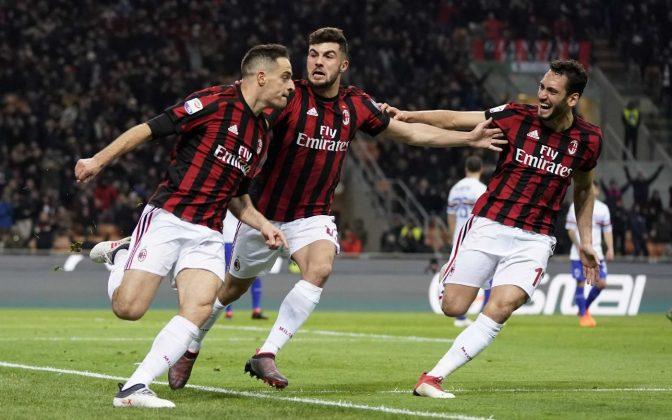 Adesso è un grande Milan: Sampdoria al tappeto e col crollo