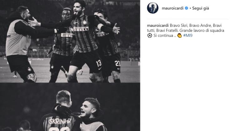 L'Inter vince contro il Benevento: il messaggio di Icardi do