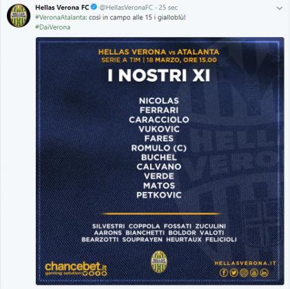 Formazioni ufficiali Serie A, 29^ giornata: tutti gli schier