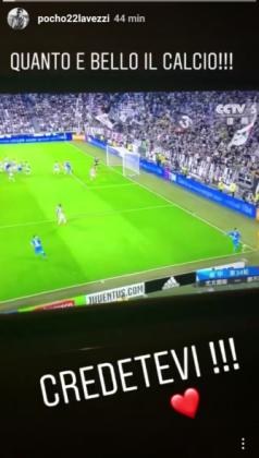 """Lavezzi 'pazzo' del Napoli, il messaggio su Instagram: """"cred"""