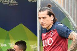 Gol Santander, il centravanti del Bologna a segno anche con