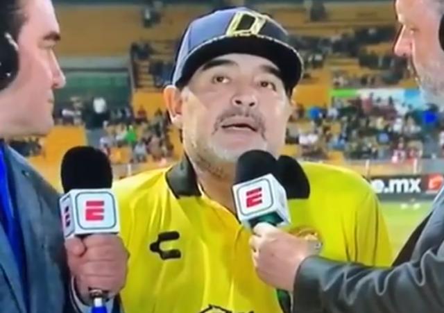 302610ab973ea L ex Pibe de Oro Diego Armando Maradona è protagonista sulla panchina dei  Dorados de Sinaloa