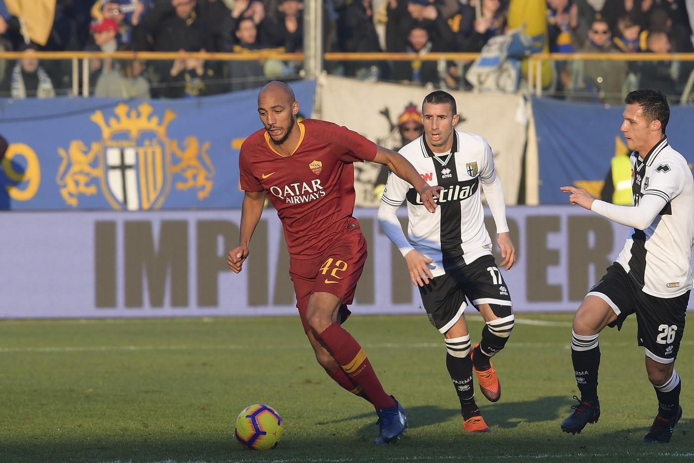 Nzonzi (Foto AS Roma/Fabio Rossi/LaPresse)