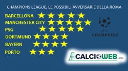 Sorteggio Champions League, il borsino per Juve e Roma: cinq