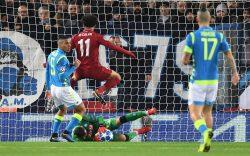 Liverpool Napoli diretta live 1 0: gol Salah, Reds in vantag