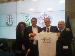 Il presidente Balata consegna 80.000 euro alla città di Geno