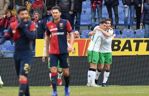 Genoa Sassuolo pagelle