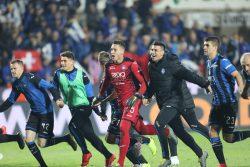 Atalanta in finale di Coppa Italia, che festa negli spogliat