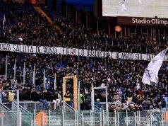 Striscione Lazio De Rossi