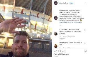tifoso tottenham lascia stadio