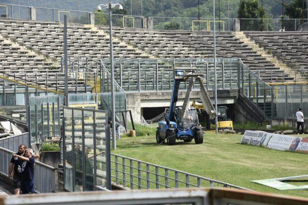 lavori stadio Rigamonti