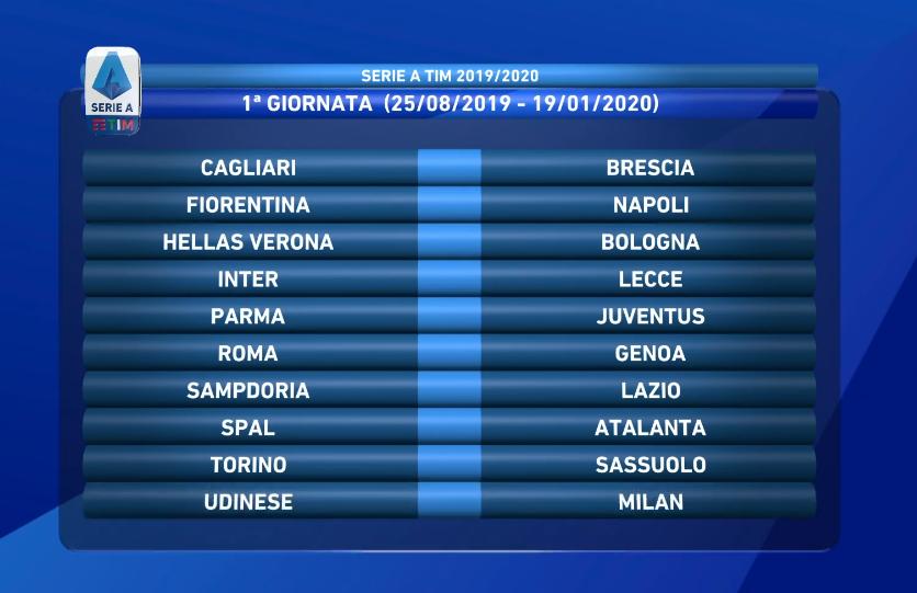 Calendario Napoli E Juve.Calendario Serie A L Analisi Dopo Il Sorteggio Inizio