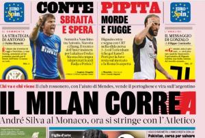 La rassegna stampa di lunedì 22 luglio – Le prime pagine di calcio    il Milan Correa  