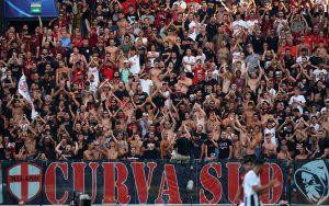 Milan Inter, la fantastica coreografia dei rossoneri [FOTO]