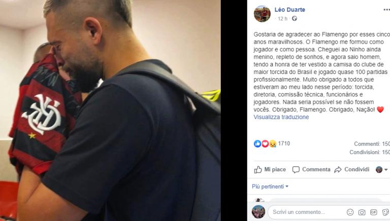 Duarte in lacrime