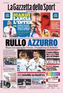 """La rassegna stampa di mercoledì 16 ottobre: """"Rullo azzurro,"""