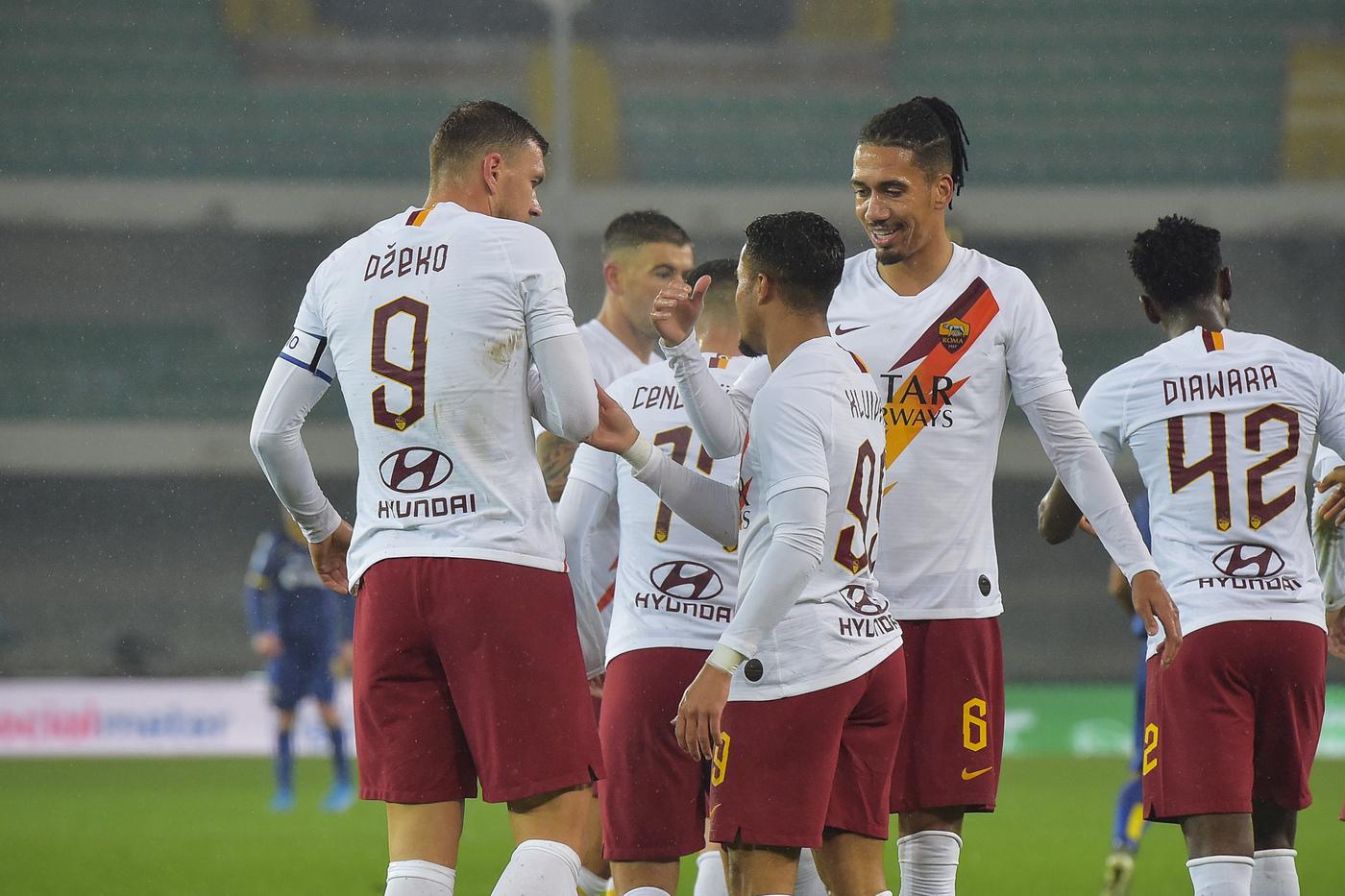 Foto Fabio Rossi/AS Roma/LaPresse 01/12/2019 Verona (Italia)