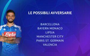 Sorteggio Champions League, le possibili avversarie del Napo