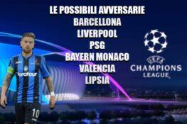 Sorteggio Champions League, le possibili avversarie dell'Ata