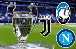 Champions League, l'Italia torna grande: 3 squadre agli otta