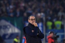 """Lazio Juventus, Sarri: """"eccessiva l'espulsione di Cuadrado"""""""