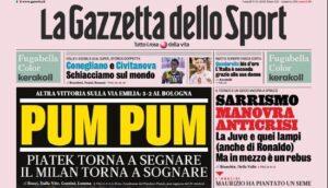 Rassegna stampa di lunedì 9 dicembre – Pum pum Milan, scudet
