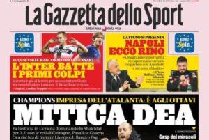 Rassegna stampa di lunedì 12 dicembre – Atalanta mitica, Gat