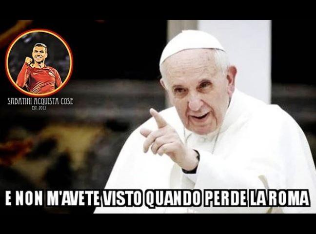 Papa Francesco si arrabbia e
