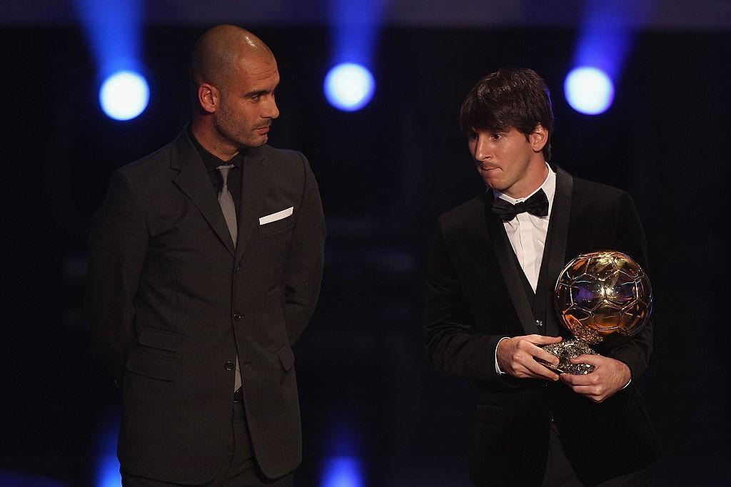 Guardiola e Messi