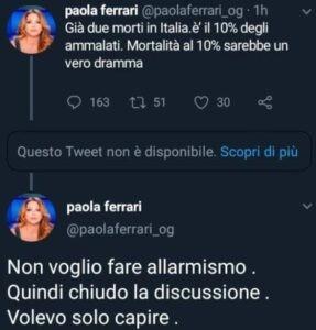 Tweet Paola Ferrari