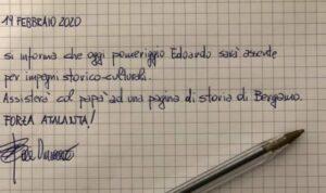"""""""Mio figlio assente a scuola, andrà a vedere Atalanta Valenc"""