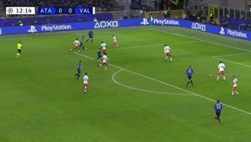 gol Hateboer Atalanta-Valencia