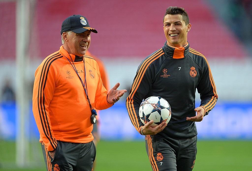 Ancelotti e Cristiano Ronaldo