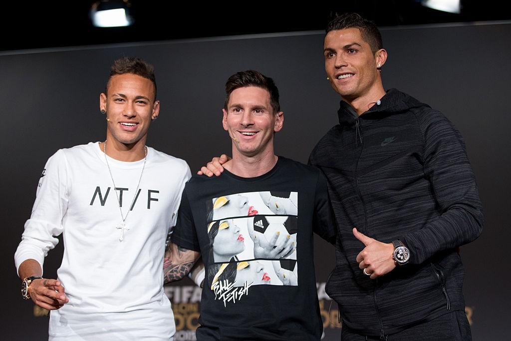 Neymar Messi e Ronaldo