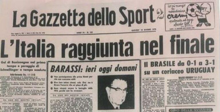Italia-Germania Gazzetta dello Sport
