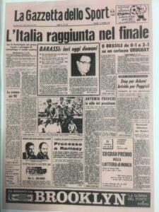 prima pagina Gazzetta dello Sport 1970